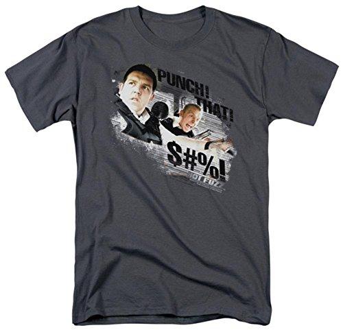 Punch That     Hot Fuzz Adult T Shirt  Xxx Large
