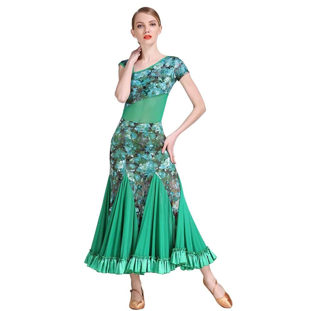 人気絶頂 衣料品モダンダンス服装、大人の女性のボールルームダンスドレスモダンスカート B07HJ1JS49 B07HJ1JS49 グリーン グリーン XL XL, 和洋菓子の店 柿の木:cc57019d --- a0267596.xsph.ru