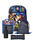 Marvel Boys' Avengers Infinity War 5 Pc Set Backpack, Blue, One Size