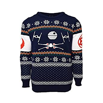 x wing vs tie fighter official star wars christmas jumper sweater clothing. Black Bedroom Furniture Sets. Home Design Ideas