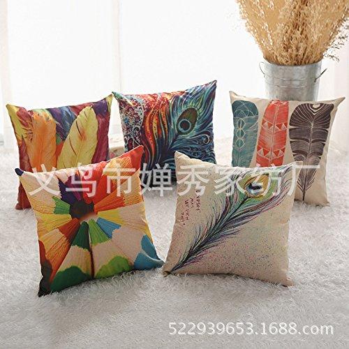 duodong Chic y cómodo cojín almohada de plumas de pavo real ...