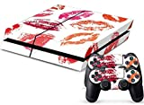Mod Freakz Console and Controller Vinyl Skin Set - Sexy Lipstick Kisses for Playstation 4