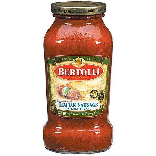 Sauce Bertolli Tomato (Bertolli Italian Sausage Garlic & Romano Pasta Sauce 24oz (Pack of 3))