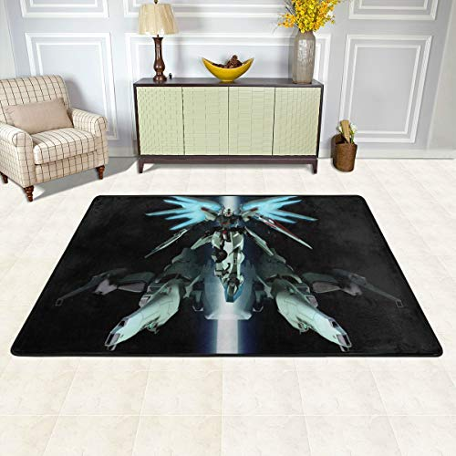 Angela R Mathews Mobile Suit Gundam Seed-Freedom Non-Slip Carpet Area Rug Modern Flannel Microfiber Anime/Cartoon Rectangle Carpet Decor Floor Rug Living Room,Bedroom,Study Floor Mat 6' X 4'
