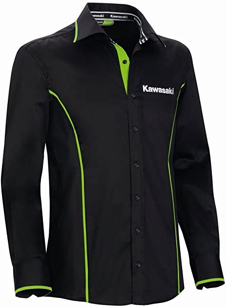 Kawasaki - Camisa casual - para hombre Negro negro XX-Large: Amazon.es: Ropa y accesorios