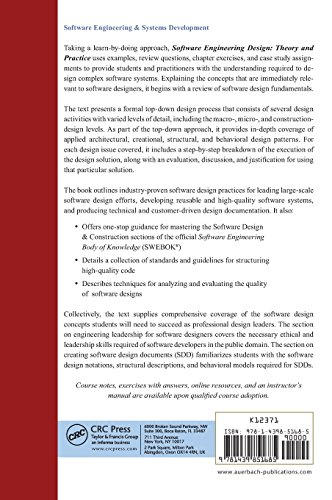 Software Engineering Design: Theory and Practice (Applied Software Engineering Series)