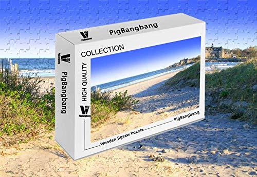PigBangbang,Photomosaic Basswood in a Box - Narragansett Beach - 1500 Piece Jigsaw Puzzle (34.4 X 22.6'')