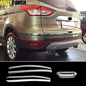 ABS Chrome Rear Trunk Lid Moulding Cover Trim For Ford Escape Kuga 2013-2015