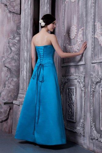 Blau traegerlose Blau Neuester BRIDE Einfache Entwurf Abendkleid GEORGE Lange elegantes AqZwvTT