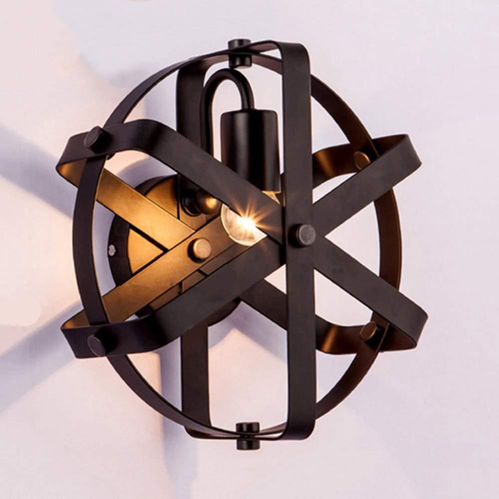 Wandleuchte Europäische Antike Industrielle Wind Schmiedeeisen Hotel Wandleuchte Persönlichkeit Kreative Kaffeestube Wohnzimmer Bar Korridor Runde Ball Wandleuchte
