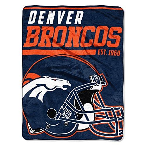 Northwest Denver Broncos Soft Blanket - The Northwest Company NFL Denver Broncos 40-Yard Dash Micro Raschel Throw, 46