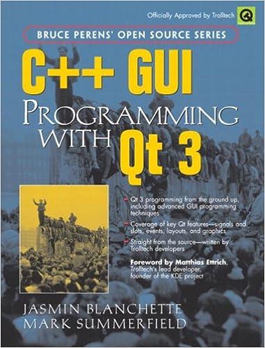 Amazon Com C Gui Programming With Qt 3 9780131240728 Jasmin