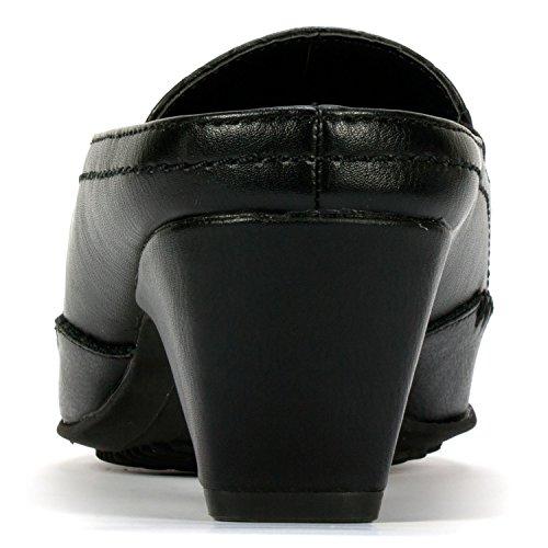 Rialto Suri Womens Mule Black Woven jicakPZy