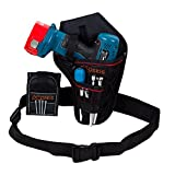 Cordless Drill Holster With Adjustable Belt & Magnetic Wristband Accessories Holds Light Battery Tools Screws Nuts Bolts Drill Bits