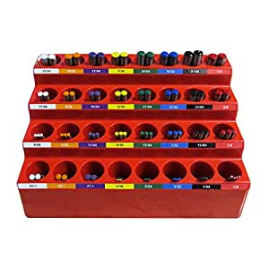 FastCap KISS DB SYSTEM 1/16-inch - 1/2-inch Color-Coded 82 Drill Bits