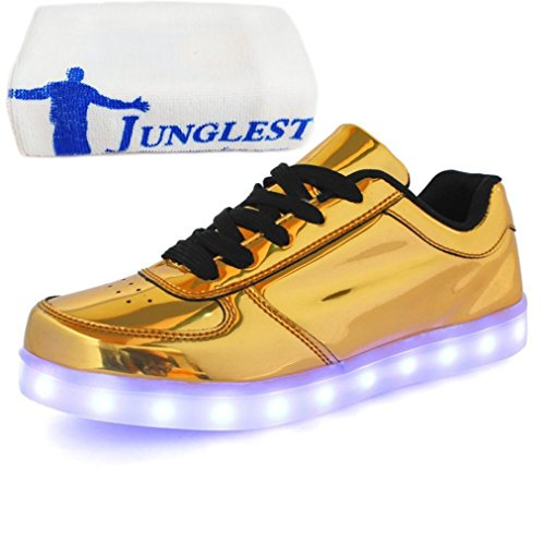 (Present:small towel)JUNGLEST® 7 Colors Led Trainers Light Up S Gold