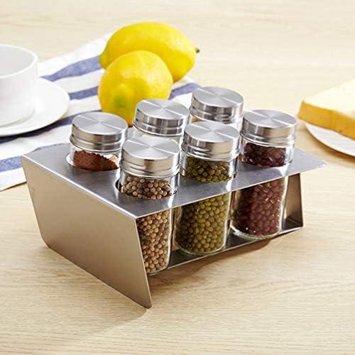 UPKOCH 6ピースステンレス鋼調味料缶防塵調味料ボトル金属調味料瓶用キッチン屋外バーベキュー