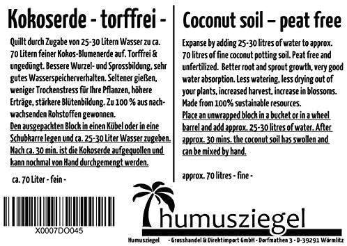 Home & Garden Store Soils pressed coir fibre unfertilised 70L ...