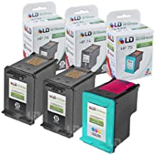 LD Remanufactured Ink Cartridge Replacements for HP CB335WN (HP 74) Black and HP CB337WN (HP 75) Color (2 Black and 1 Color)