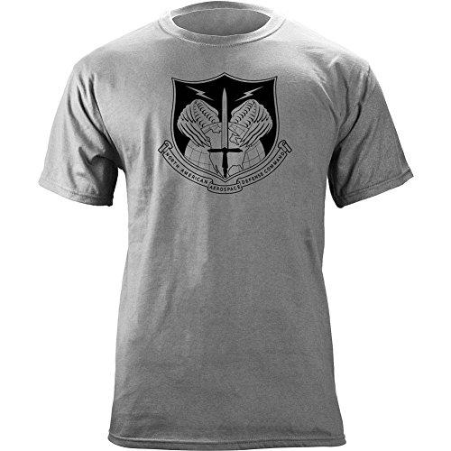 North American Aerospace Defense Cmd Subdued Veteran Patch T Shirt  2X Large  Heather Grey
