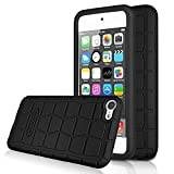 (US) [2 Pack] Apple New iPod touch (6th Gen) Case- OMOTON Silicone Shock-Proof Case Cover for iPod touch 6 (2015 Julyd) (Black)