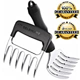 SELEWARE [2-Pack] Innovative Meat Claws, BBQ Meat Forks, Pulled Pork Shredder Claws, Ultra-Sharp Blades BPA Free Barbecue Paws with Handle for Lift, Handle, Shred, and Cut Meats