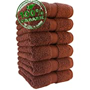 100 % Organic Turkish cotton, Antibacterial Premium Quality, Turkish Towels Super Soft, Plush Highly Absorbency,Everyday Use Quick dry.Long lasting Eco-Friendly (Hand Towel - Set of 6, Caribbean Aqua)