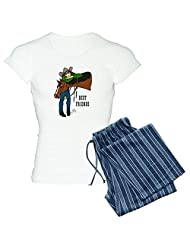 CafePress Women's Light Pajamas - Horse & Girl Western Pajamas