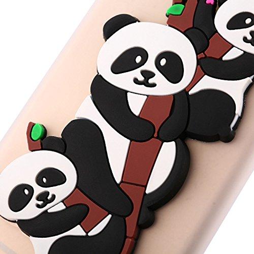 Funda para Samsung Galaxy A8 2018 , IJIA Puro Rojo Adorable Panda TPU Silicona Suave Cover Tapa Caso Parachoques Carcasa Cubierta Teléfono De Vuelta Shell Case para Samsung Galaxy A8 2018 (5.6) White