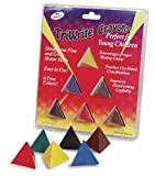 Pencil Grip The Classics TriWrite Crayon, Black/Blue/Brown/Green/Red/Yellow, 6 Pack (TPG-250)