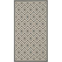Safavieh Courtyard Collection CY6902-246 Anthracite and Beige Indoor/Outdoor Area Rug (27 x 5)