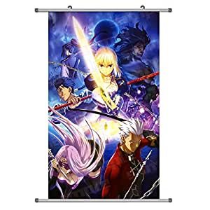 A Wide Variety of Fate Stay Night Anime Characters Wall Scroll Hanging Decor (Group Photo 5)