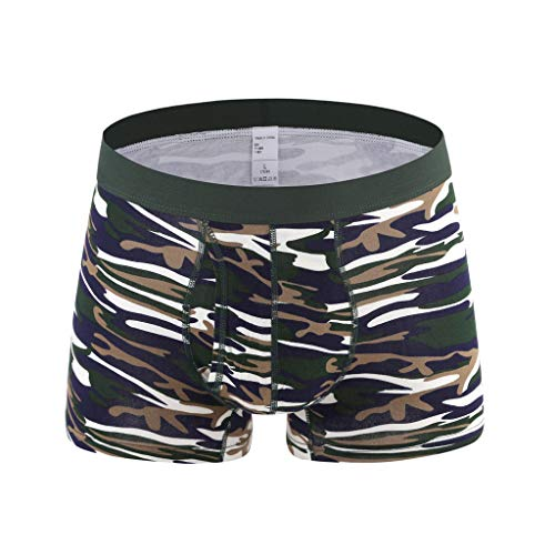 (Fastbot mens underwear, Thong Briefs Hot Camouflage Comfortable 100% Cotton)
