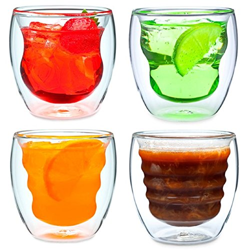 Set Of Double Wall Beverage Glasses and Tumblers