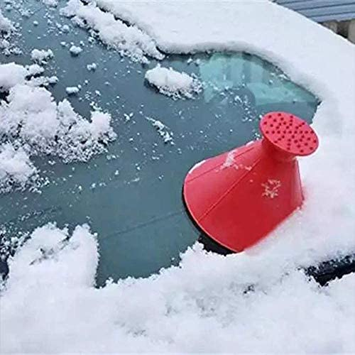 Hsamila Magic Scraper Car Round Windshield Ice Scrapers,Cone-Shaped Windshield Ice Scrapers Car Funnel Snow Scraper Magic Snow Removal Tool Black 3 Pack