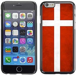 YOYO Slim PC / Aluminium Case Cover Armor Shell Portection //Denmark Grunge Flag //Apple Iphone 6 Plus 5.5