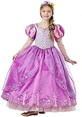 Disney - Disfraz de Rapunzel para niña, Edición Deluxe Limitada, 5 ...