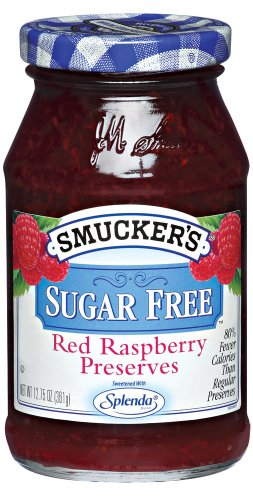 Smucker's  Sugar Free Red Raspberry Preserves, 12.75-Ounce (Pack of 6) ()