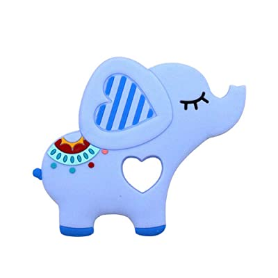 Elephent Baby Teether Toys Silicone Soother Chewable Teething Toy Best for Massage The Gums Eco Friendly BPA Free for Infant Newborn Birthday Present : Baby