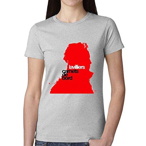 Bernard Lavilliers Carnets De Bord Woman's T shirt Grey