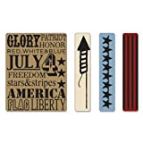 Sizzix Texture Fades Embossing Folders 4PK - Americana Background & Borders Set by Tim Holtz