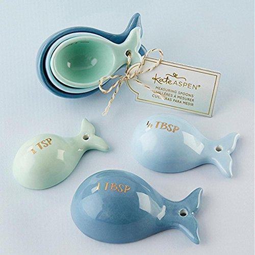 Kate Aspen Ceramic Whale Shaped Measuring Spoons Set - 40 Sets