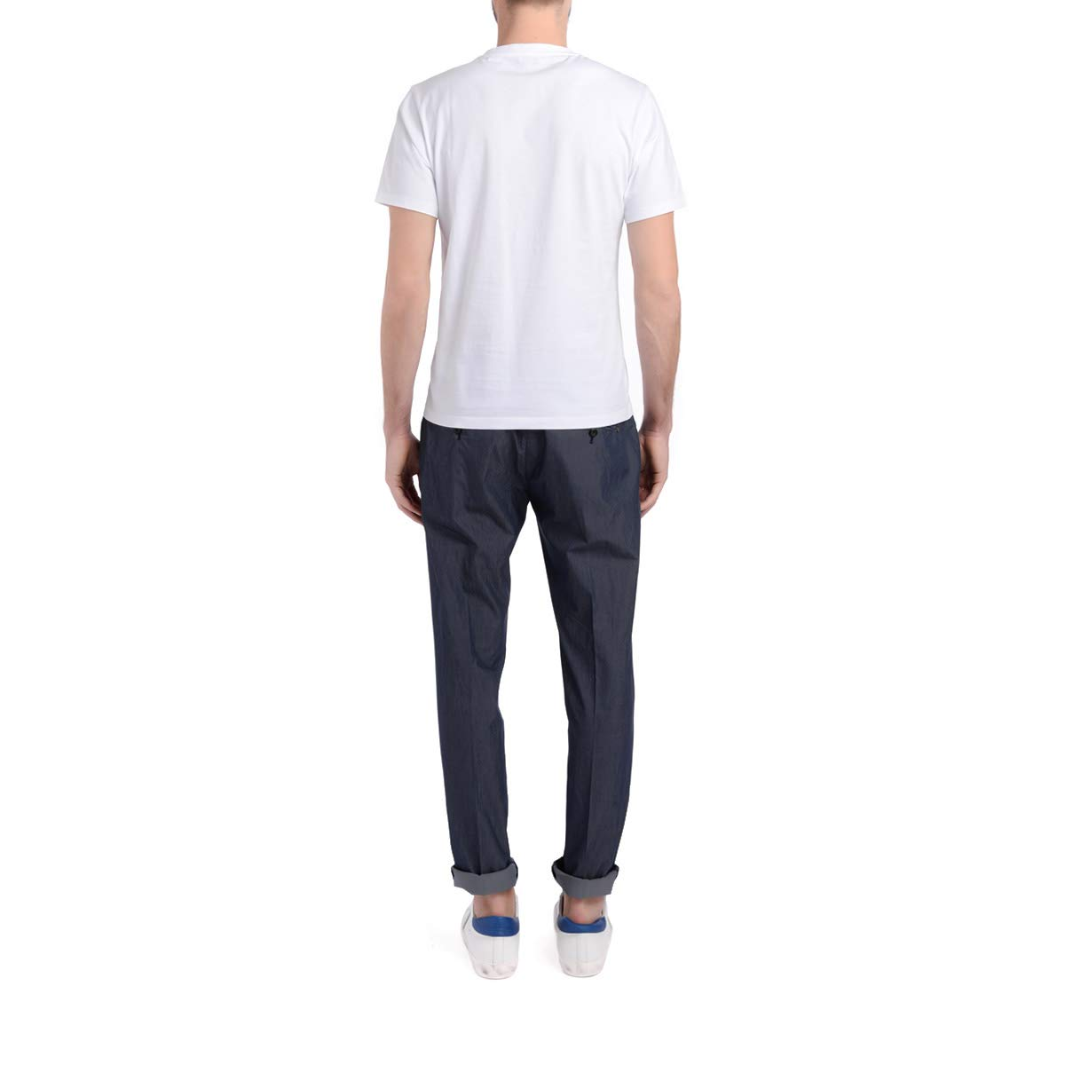 Dondup Mens Gaubert Pinces Blue Washed Trousers