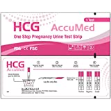 AccuMed® Pregnancy (HCG) Test Strips Kit, Clear and...
