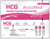 AccuMed® Pregnancy (HCG) Test Strips Kit, Clear and Accurate Results, FDA Approved and Over 99% Accurate, 50 count - Expire 03/2019