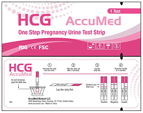 AccuMed Combo 50 Ovulation Test Strips & 25 Pregnancy Test Strips Kit, Clear and Accurate Results, Over 99% Accurate