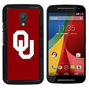 LOVE FOR Motorola G 2ND GEN II OU Sports Team Personalized Design Custom DIY Case Cover