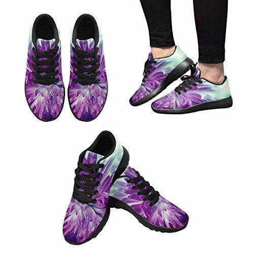 Scarpe Da Corsa Trail Running Da Donna Jogging Leggero Sportivo Da Passeggio Sneakers Da Ginnastica Viola Fiore Da Vicino Multi 1