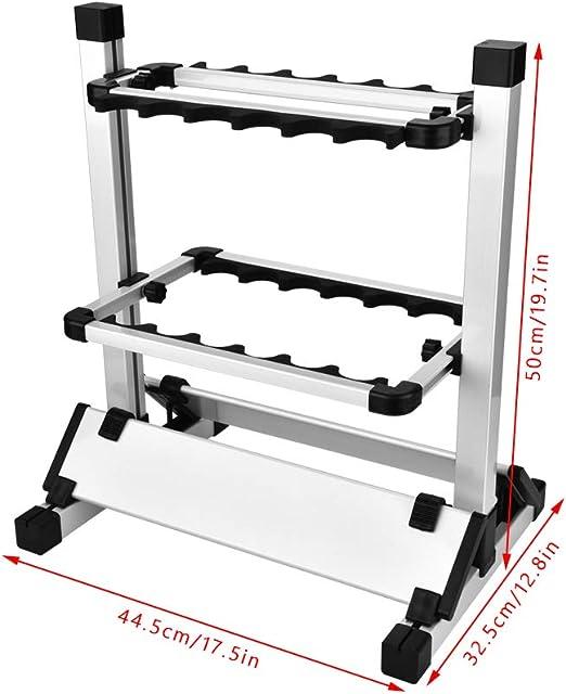 tragbarer Angelrutenhalter. DaMohony Angelruten-Halterung aus Aluminiumlegierung