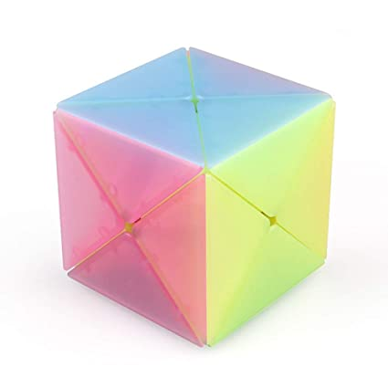 Rabusion Simple Jelly Color Magic Cube Stress Reliver Toy for Infant Student Kids